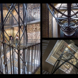 A lift shaft